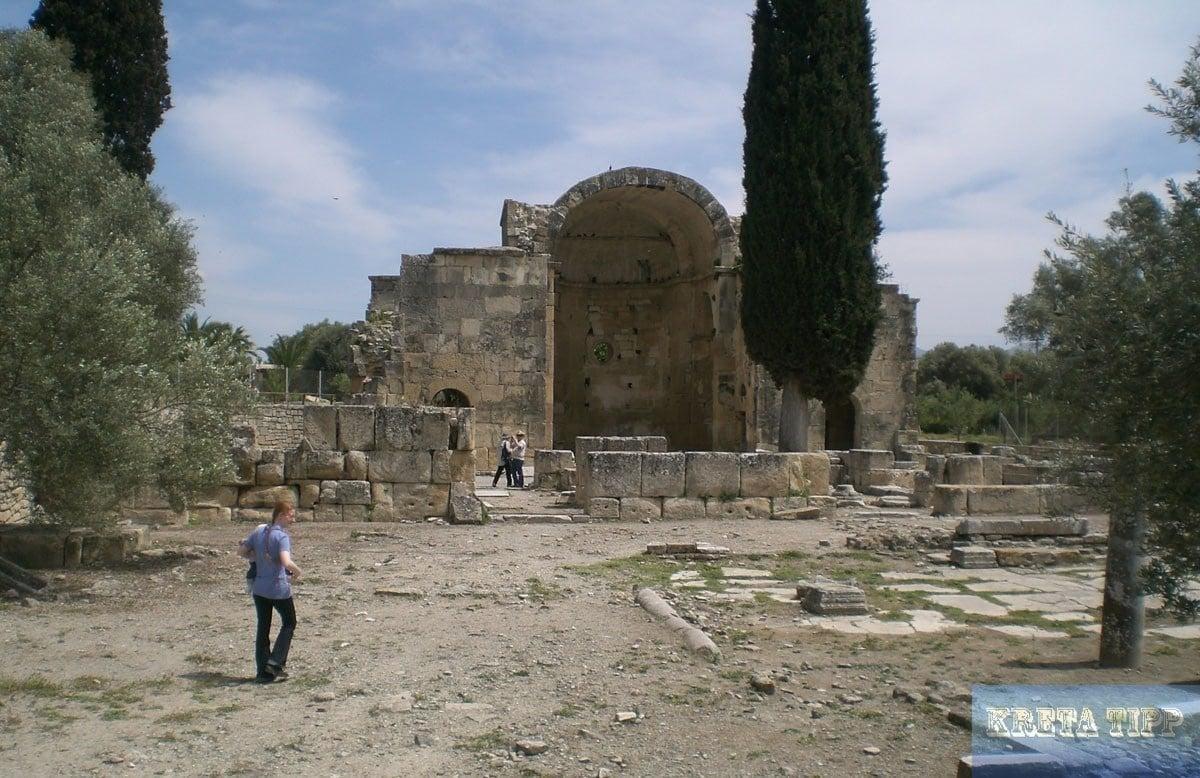 Ruine der Titus-Kirche in Gortis