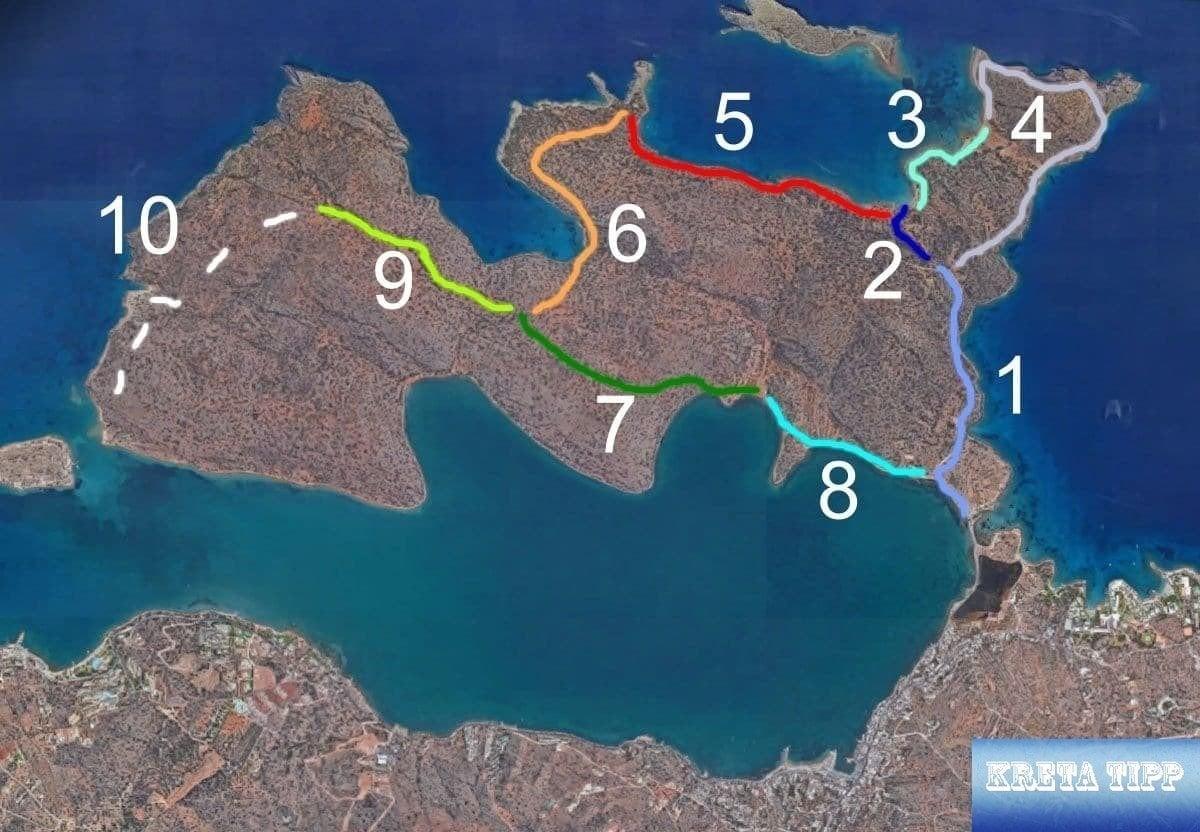 Wege und Pfade Halbinsel Spinalonga