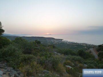 Milatos bei Sonnenuntergang