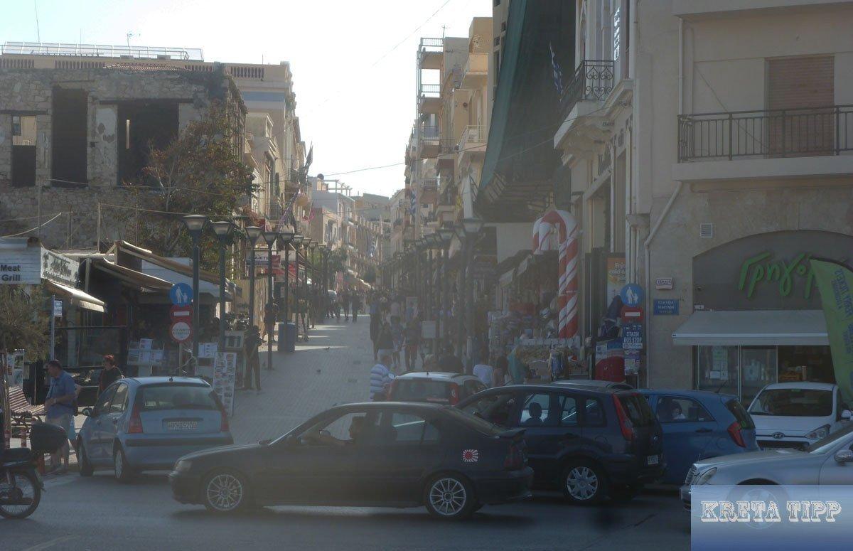 Fußgänger-Zone in Heraklion