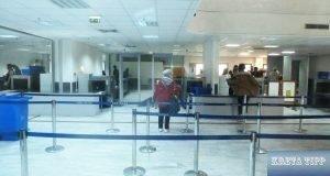 Abfertigung am Flughafen in Heraklion