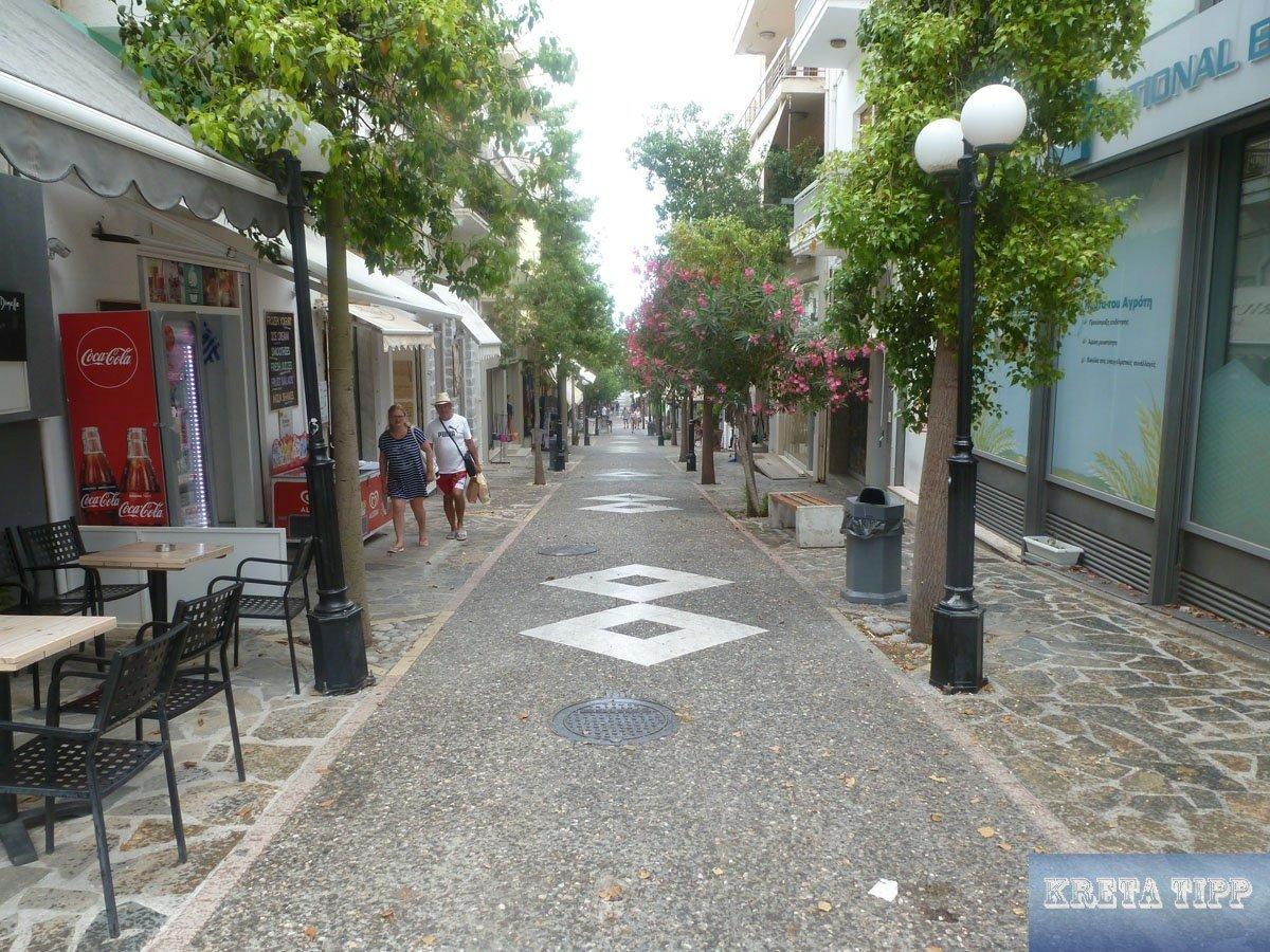 Tote Hose' in der Fussgängerzone von Agios Nikolaos