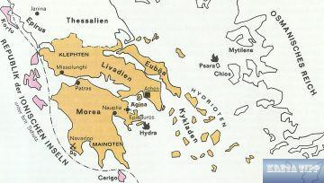 Griechenland in den Grenzen von 1829